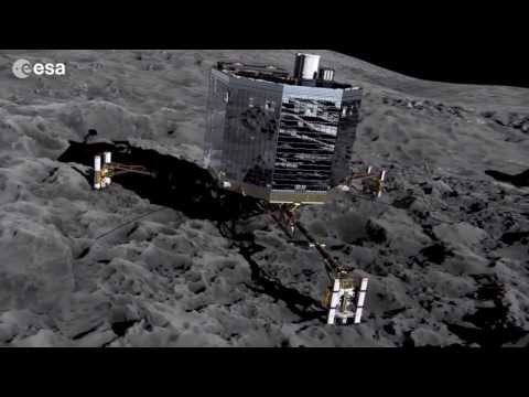 Philae Lander Touches Down on a Comet | ESA Space Science HD Video