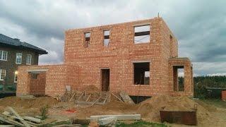 2 этаж (финальный) стройка дома - кладка из кирпича. Как строит хорошая бригада