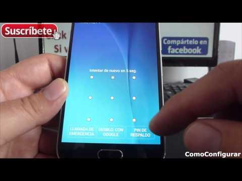 Como Quitar Patron de Desbloqueo Olvidado con Pin Samsung Galaxy S6