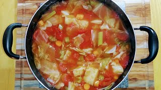 Diet Cabbage Soup! Lose Ten Pounds In A Week! And Delicious!