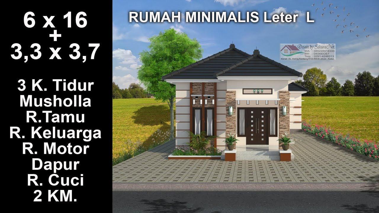 Modern House 6 X 16 3 K Tidur Desain Rumah Minimalis