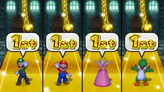 Mario Party 9 MiniGames - Luigi Vs Mario Vs Peach Vs Yoshi (Master Difficulty)