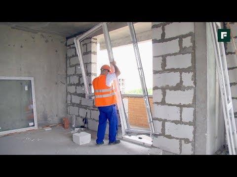 Монтаж крупноформатной оконной конструкции в стену из газобетона // FORUMHOUSE