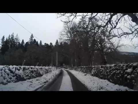 Winter Drive To Clan Donnachaid Church Struan Highland Perthshire Scotland