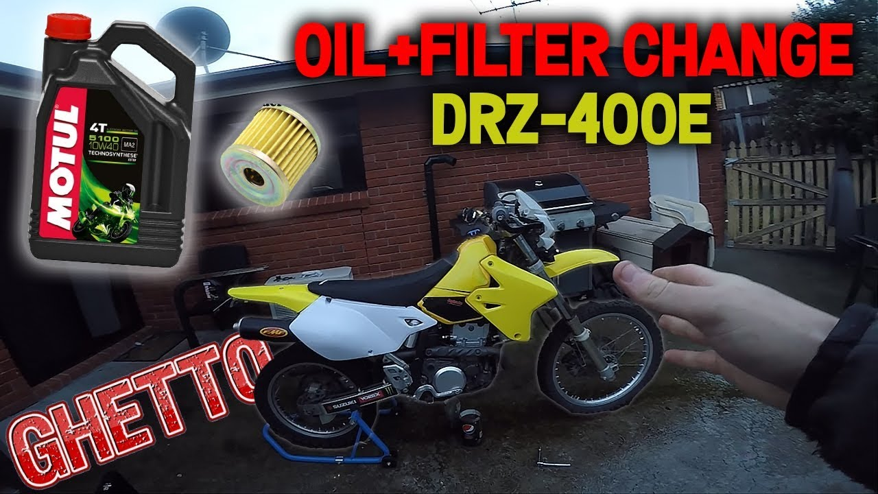 How To Change DRZ400E Oil/Filter The Ghetto Way