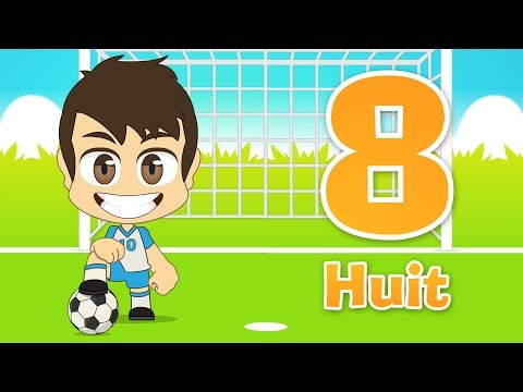 Learn French Numbers with Football for children 1 -10 (Numbers in French for Kids with Zakaria) thumbnail