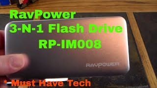 Ravpower 3-in-1 64GB Flash Drive A Hard Drive For Your iOS Devices