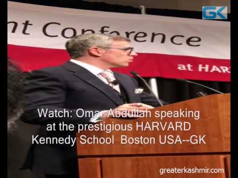 Watch: Omar Abdullah speaking at the prestigious HARVARD Kennedy School  Boston USA