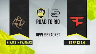 CS:GO - FaZe Clan vs. Ninjas in Pyjamas [Mirage] Map 2 - ESL One: Road to Rio - Upper Bracket - EU