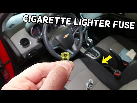 CHEVROLET CRUZE FRONT CIGARETTE LIGHTER POWER OUTLET FUSE LOCATION REPLACEMENT