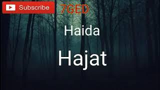 Haida - Hajat  lyrics