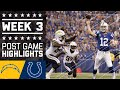 Chargers vs. Colts (Week 3) | Post Game Highlights | NFL