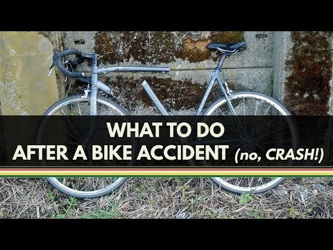Bicycle Law: What to Do After a Bicycle Accident (no, Crash!)