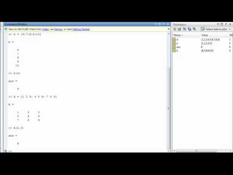 Arrays, Vectors, and Matrices in MATLAB