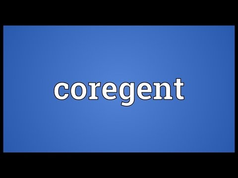 Coregent Meaning
