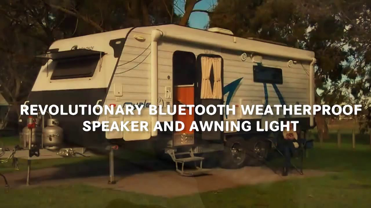King Rv Media Outdoor Speaker Amp Awning Light Youtube