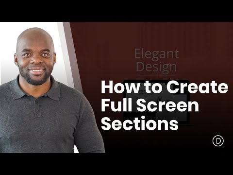 How to Create Full Screen Sections with Top and Bottom Scroll Links with Divi