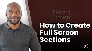 How to Create Full Screen Sections with Top and Bottom Scroll Links with Divi thumbnail