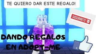 GIVING GIFTS IN ADOPT ME! (ROBLOX)