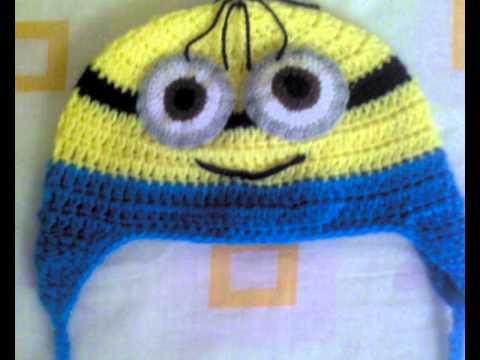 gorros tejidos con ganchos de distintos personajes para niñas y niños
