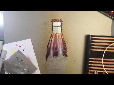 Coke Bottle Drawing