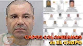 Capos colombianos testificarán contra El Chapo