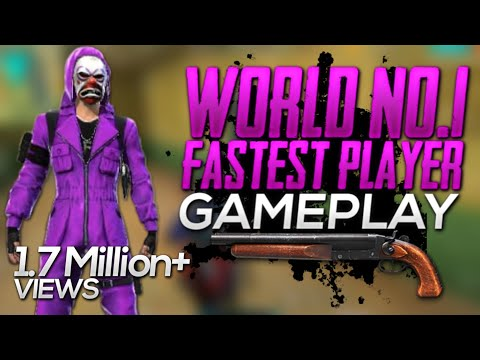 Free fire world no 1 fastest player | world no 1 FASTEST player in free fire