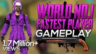 Free fire world no 1 fastest player   world no 1 FASTEST player in free fire