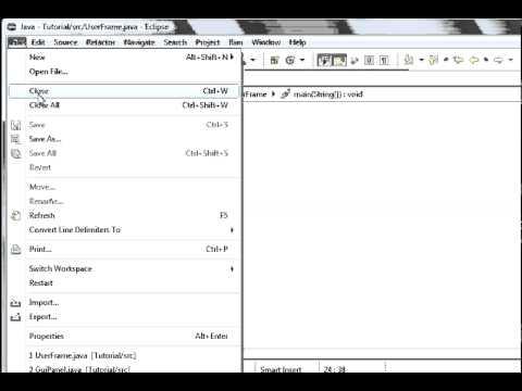 Java programming part 65 GUI : Adding Menu bars, menus and menu items