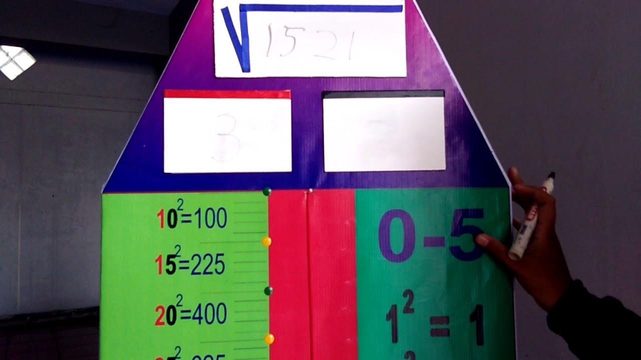 Dapat dilihat pada pasangan bilangan 4 dan 2,. Alat Peraga Matematika Penarikan Akar Pangkat 2 Media Pembelajaran Untuk Sd Youtube