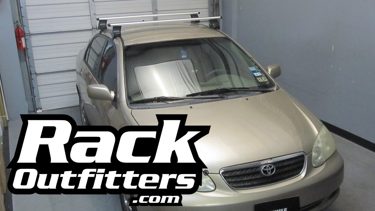 Toyota Corolla Thule Rapid Traverse Silver Aeroblade Roof Rack 03 08 By Rack Outfitters