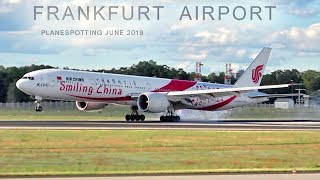 FRANKFURT AIRPORT PLANESPOTTING incl LH B747 Retro, A321NEO, EK A380, B767, ATR72 etc. - JUNE 2019