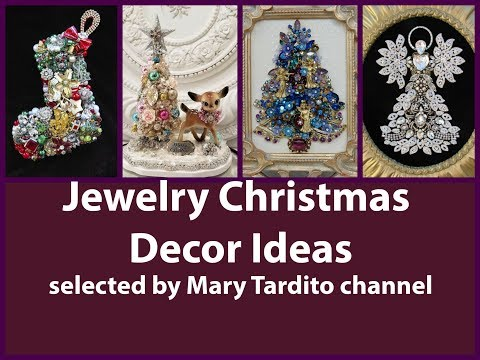 Jewelry Christmas Decor Ideas – Repurposed Bijoux Christmas Decor Ideas