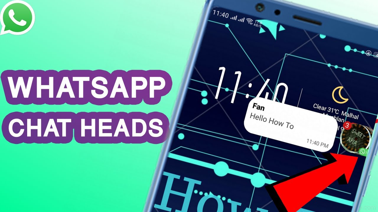 How To Enable / Disable Chat Heads on WhatsApp (2020) | WhatsApp Tips and Tricks