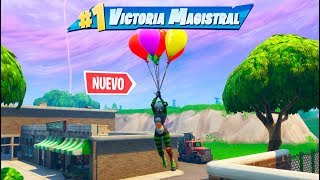 VICTORIA con **NUEVOS** GLOBOS en FORTNITE: Battle Royale