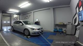 VW Golf 7 1.6 TDI 105cv Reprogrammation Moteur @ 145cv Digiservices Paris 77 Dyno