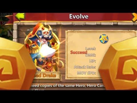 Castle Clash Double Evolving Dread Drake+ Power Leveling