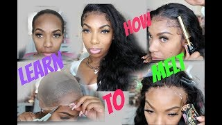 Melt that Lace| Flawless Stocking Cap Method Install + Lace Glue w/Baby Hairs| KennySweets