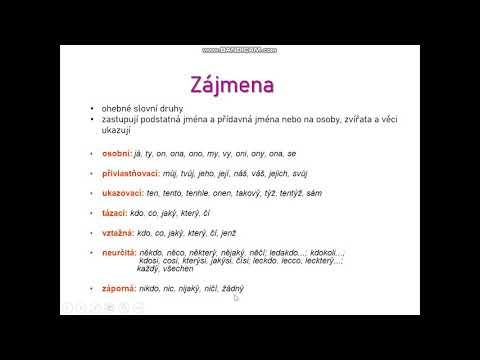 jůtůbčeština: Druhy zájmen - zájmena osobní (6. ročník)