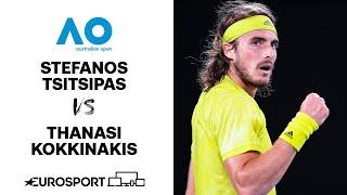 Stefanos Tsitsipas v Thanasi Kokkinakis | Australian Open 2021 - Highlights | Tennis | Eurosport