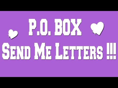 I HAVE A P.O. BOX!!! LET'S MAIL EACHOTHER!!