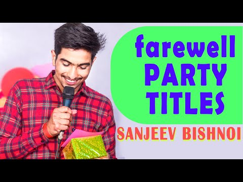 15 Title for Farewell party and Shayri video in full (hd) / Today