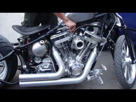 "Harley Fatboy Springer custom S&S 117"" motor"