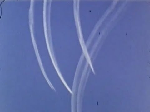 Contrails In 1953 Nuclear Test Film