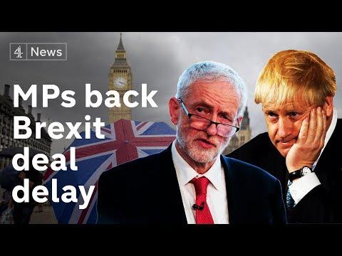 Super Saturday: MPs back Brexit deal delay