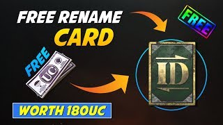 Get Free Rename card in PUBG Worth UC 180 for free PUBG free Rename Card trick