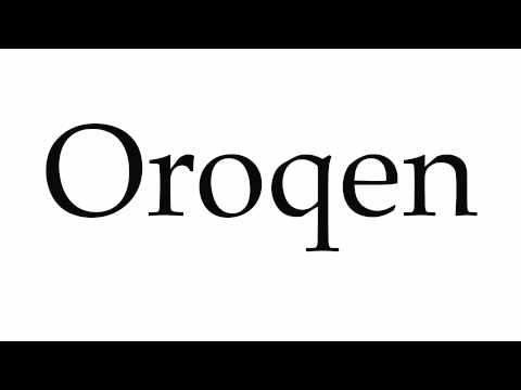 How to Pronounce Oroqen