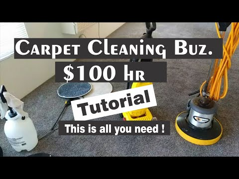 Make Over $100 Hr VLM Carpet Cleaning Low Start Up - Step By Step Process