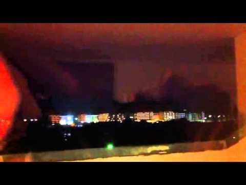 Thunder and lightening near Barcelona costa brava bad weather