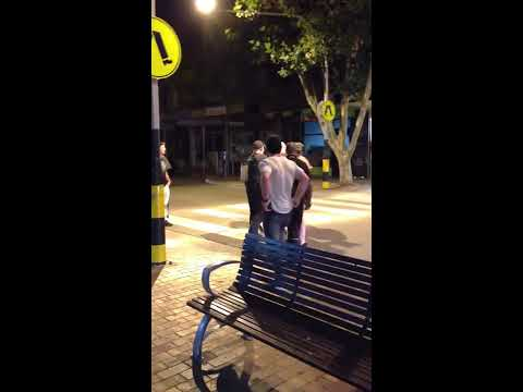 victoria police and nightclub bouncer police state brutality, in mornington main street, bay hotel